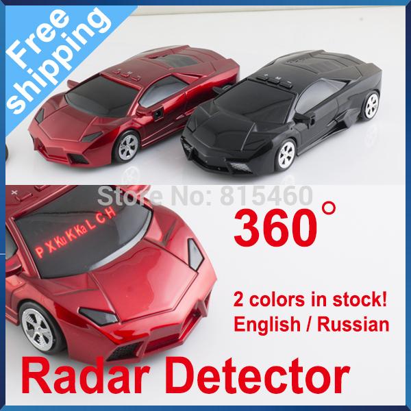 Free Shipping Super Model Car Radar Detector with LED Display Russian Version/English Version Lamborn(China (Mainland))