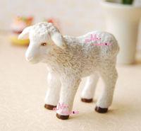 Dollhouse Miniature Pet Animal White Baby Sheep Lovely
