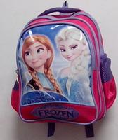 A185 2014 New Hot Cartoom Frozen Anna And Elsa Princess School Canvas Travel Backpacks Bag For Children Girls 5pcs/Lot