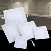 Fashion 3w/4w/6w/9W/12W/15W/18W/25W led ceiling light cool white/warm white AC85-265V panel light