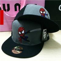 2014 New Fashion Unisex Snapbacks Adjustable Cartoon Spiderman Embroidery Hat Hiphop Hip-hop Hats Baseball Caps For Men Women
