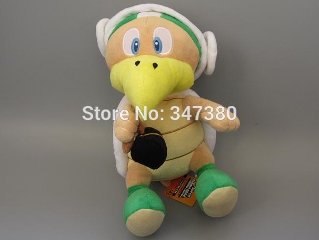5pcs/lot Super Mario Hammer Turtle Plush toys 30 cm Anime dolls Soft children toys Wholesale(China (Mainland))