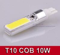 Super Bright Xenon White T10 194 168 W5W COB 10W LED Interior Bulb Light Parking backup Fog Brake Lamp 2PCS/Lot Free shipping