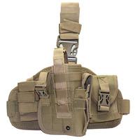 Universal Adjustable Nylon Tactical Combat  Airsoft Hunting Shooting Thumb Break Right Handed Drop Leg Holster