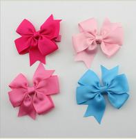 10pcs/lot baby ribbon bows hair clips,Baby Girl pin wheel Hair Bows ,Baby Boutique bows hairpins girl hair accessories