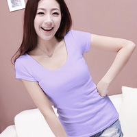 COTTON T-SHIRT spring summer autumn Women's T-Shirt Casual Round Neck Long Sleeve T-Shirt 8 Colors