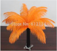 Free Shipping Wholesale OrangeOstrich Feathers 100pcs/lot 15-20cm Wedding Decorations Plume Performance