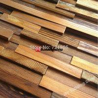 Natural wood parquet mosaic tile NWMT075 rustic wood wall tiles backsplash wood mosaic pattern