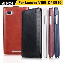 Lenovo K910 100% original leather case for Lenovo VIBE Z K910 Vertical Flip Cover Mobile Phone Bags & Cases Accessories