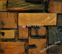 Rustic wood mosaic tiles NWMT081 natural wood mosaic kitchen backsplash tiles TV background wood wall tile