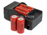 2pcs/lot Excellent 16340 CR123A 3.7V Battery Charge Double Charger/CR123A Battery Charger 1pc/lot