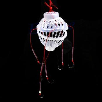Пластиковые 6 в 1 фонарь приманка чехол колючая взрыв рыболовный крючок рыболовные снасти