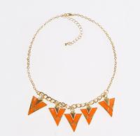 New Charming Bohemia Hot Sale Triangle Fashion Women's Necklaces & Pendants (12 pieces/lot)