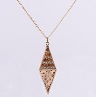 Wholesale New 2014 Europe Trendy Rhombus Hot Sale Women Pendant Necklaces (24 pieces/lot)