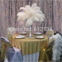 wholesale 20-25cm(8-10inch) white ostrich feather for wedding centerpiece decoration table centerpiece