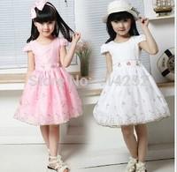 Baby Kids Children's Lovely Dress,New Princess Girls Lady Dress Lovely Floral Veil,Beautiful Flower Retail CZ-6025