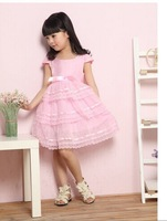 2014 Summer New Princess Girls Party Dresses Children Lovely  Beautiful Lace Dress  Kids' Clothes Retail CZ-6023