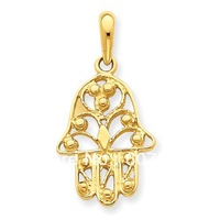 Hamsa hand religious charms ,18k gold plated,12pcs a lot,free shipping