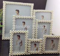 "zinc alloy frames inlaid pearls&diamonds size 10"" rectangular  wedding photo frame bridal gifts 9012#"