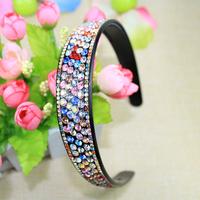 New 2014 arrival wholesale price 1 pieces fashion Korean crystal headbands women bridal hairband AB rhinestone hair jewelry