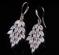 B350 The leaves tassel Crystal earrings supernova sales High quality jewelry B350