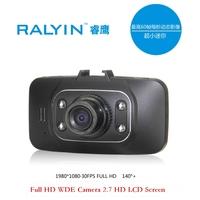 2014 High quality car dvrs Camera Car DVR 140 degree wide Angle 2.7 inch WDE 1080P G-Sensor  full hd night vision Recorder Video