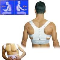 Magnetic Therapy Posture Orthopedic Shoulder Back Support Belt Brace Pain Relief 2000pcs/lot