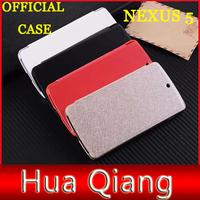 original official leather Case for LG Google Nexus 5 phone bag luxury flip leather case + retail box