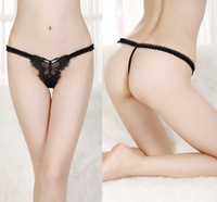 Butterfly Thong T-Shape G-String V-String Transparent gauze bow Underwear 2014 New CHIC! Free Shipping W1468
