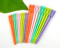 "20Pcs 2 3/4\"" 3 3/4\"" Mixed Multicolor Plastic Knitting Needles"