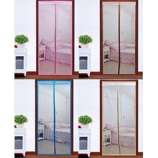 quente 5 cores malha cortina porta de tela macio tarja magnética anti voar bug mosquito gota frete grátis(China (Mainland))