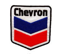 Badge with Red and Blue Fabric Patch of Sticker, Gasoline Logo Embroidery Patch,  Children's DIY Cloth Accessories