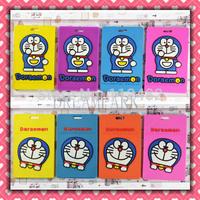 30pcs/lot Doraemon luggage tag pvc travel baggage Identification card suitcase label free shipping