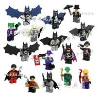 Super Heroes 16pcs Avengers Batman Action Mini figure Minifigures chima ninja ninjago star wars building blocks Bricks kids Toys
