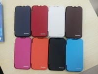 5pcs/lot Flip PU Leather Case Cover For Lenovo A390T Free Shipping