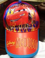 50pcs/Lot Free Shipping !Hot Sale Cars Sport Cap Cartoon Children's Hats Sun Caps Summer Beret Cap A3308 Wholesale