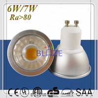 50pcs/Lot Dimmable GU10 led 6W 7W 600LM COB Led light bulbs Ra>80 AC 120V 230V Dim lampe 3 Years Warranty