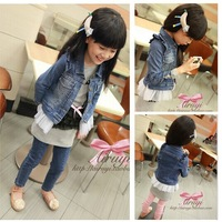 Free Shipping Children Outerwear Jacket ,Baby Girl Denim Jacket,Euro Brand Designer Coats For Children, Retail CZ-6031