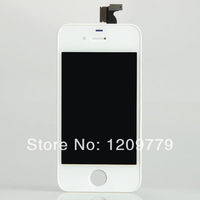 P Free shipping White Touch Digitizer LCD Display Assembly for iPhone 4G BA019 R