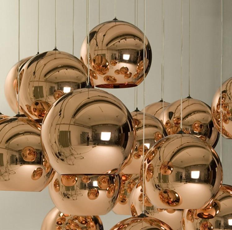 Creative Christmas ball golden plating ball chandelier lamp bar restaurant spherical glass staircase lighting fixtures(China (Mainland))