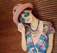 Hot 2014 New Fashion coating sunglass Frog Mirror Sunglasse Arrival Men Women Loved Unisex Sunglasses Free Ship