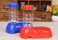 Hot Sales Pet Dog Puppy Cat Kitten Automatic Water Dispenser Food Dish Bowl Feeder Water Bottle D-1441