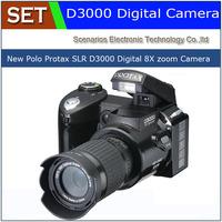 hot sale popular fashion D3000 16MP HD DSLR Camera w/ 16x Telephoto & Wide Angle Lens cheap Camera