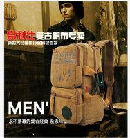 Water wash canvas bag outdoor backpack travel bag vintage big bag many kinds of handbag