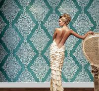 Damascus woven wallpaper wallpaper living room bedroom TV backdrop of European wallpaper / P156