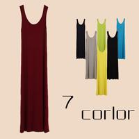 2014 spring and summer female one-piece dress fashion modal basic  female spaghetti strap tank full dress tank dress