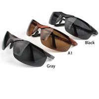 P Free shipping Aluminum magnesium alloy polarized sunglasses driver mirror sunglasses Sport Mens Anti-glare Glasses L0379 W