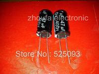 Free shipping  Electrolytic capacitor   400V 47UF   47UF  400V  volume 16*25