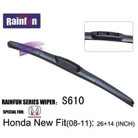 Soft  Natural Rubber Car Boneless windshield wiper blades special for HONDA Fit(08-11), 1pair
