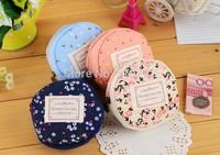 Free shipping 2PCS/LOT Lady  Fabrics Key Case Coin purse Handbag